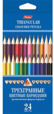Набор цветных карандашей Hatber BKt_24400
