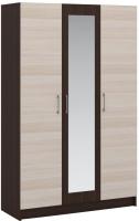 Шкаф Империал Алёна 3-х дверный (венге/дуб молочный) -