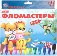 Фломастеры Hatber Jumbo Пушистики / BFk-12231 (12цв) -