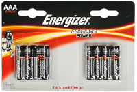 Комплект батареек Energizer Power LR03/AAA BP8 / E300127803 -