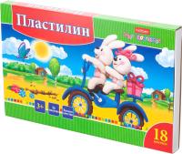 Пластилин Hatber Ушастики / KPn-18880 (18цв) -