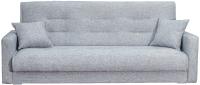 Диван Экомебель Лондон-2 рогожка 2 подушки 120 (серый) -
