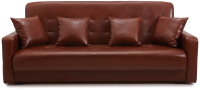 Диван Экомебель Аккорд 2 подушки 120 (коричневый) -