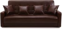 Диван Экомебель Аккорд 2 подушки 120 (темно-коричневый) -