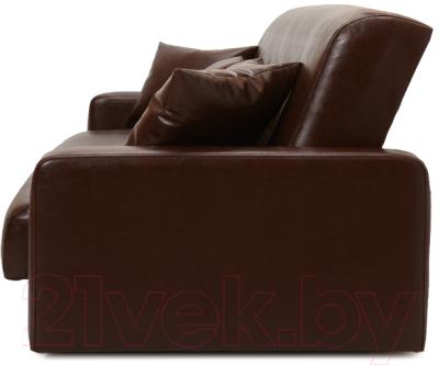 Диван Экомебель Аккорд 2 подушки 120 (темно-коричневый)