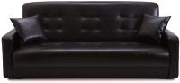 Диван Экомебель Аккорд 2 подушки 120 (черный) -