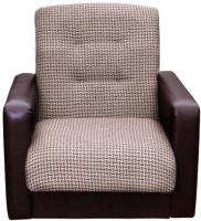 Кресло мягкое Экомебель Лондон рогожка микс (коричневый) -