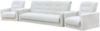 Комплект мягкой мебели Экомебель Лондон-2 рогожка микс 187x120 (бежевый) -