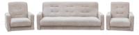 Комплект мягкой мебели Экомебель Лондон-2 рогожка 187x120 (бежевый) -