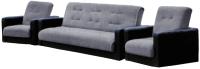 Комплект мягкой мебели Экомебель Лондон рогожка 187x120 (серый) -
