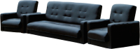 Комплект мягкой мебели Экомебель Аккорд экокожа 187x120 (темно-коричневый) -