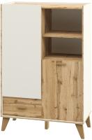 Шкаф Мебель-Неман Сканди МН-036-07 (дуб вотан/белый) -