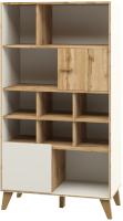 Стеллаж Мебель-Неман Сканди МН-036-11 (дуб вотан/белый) -