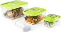 Контейнеры для вакуумного упаковщика Status Vac-Glass-Set (зеленый) -