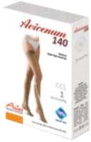 Чулки компрессионные Aries Avicenum 140 тонкие с кружевом и закрытым носком / 8001 (M, long) -