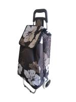 Сумка-тележка MONAMI XY-021 №6 (цветы на черном) -