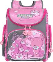 Школьный рюкзак Grizzly RAr-080-11/604236 (серый/розовый) -