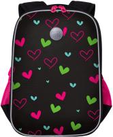 Школьный рюкзак Grizzly RG-065-3 (черный) -