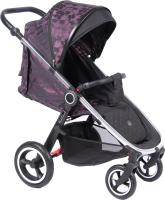 Детская прогулочная коляска Coletto Joggy 2020 (Silver/Flower) -
