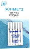 Иглы для швейной машины Schmetz ELX705 CF оверлочные №80 (5шт, хром) -