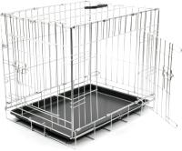 Клетка для животных Duvo Plus Pet Kennel Small 780/470/DV (серебристый) -