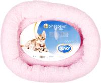 Лежанка для животных Duvo Plus Овчинка / 8/00300/DV (розовый) -