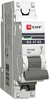 Выключатель автоматический EKF ВА 47-63 1P 16А (C) 4.5kA PROxima / mcb4763-1-16C-pro -