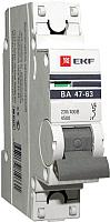 Выключатель автоматический EKF ВА 47-63 1P 3А (C) 4.5kA PROxima -