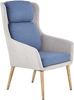 Кресло мягкое Halmar Purio (светло-серый/синий) -
