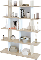Стеллаж Сокол-Мебель СТ-5 (дуб сонома/белый) -