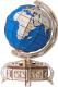 Сборная модель EWA Глобус. Образовательная 3D модель Земли (голубой) -