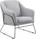 Кресло мягкое Halmar Soft 2 (серый/черный) -