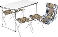 Комплект складной мебели Ника ССТ-К2 (металлик/хант) -