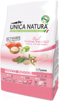 Корм для кошек Gheda Petfood Unica Natura Indoor лосось, рис, яблоко (350г) -