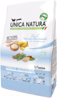 Корм для кошек Gheda Petfood Unica Natura Outdoor треска, рис, банан (350г) -
