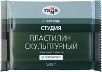 Пластилин скульптурный ГАММА Студия 2.80.Е050.004 (500г, оливковый, мягкий) -