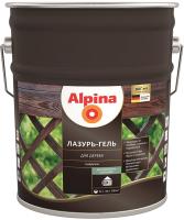 Защитно-декоративный состав Alpina Лазурь-гель (10л, махагон) -