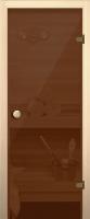 Стеклянная дверь для бани/сауны Юркас Акма правая 69х189 (бронза/прозрачное стекло) -