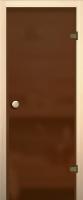 Стеклянная дверь для бани/сауны Юркас Акма правая 69х189 (бронза/матовое стекло) -