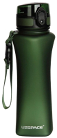 Бутылка для воды UZSpace One Touch Matte / 6008 (500мл, зеленый) -