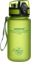 Бутылка для воды UZSpace Colorful Frosted / 3034 (350мл, зеленый) -