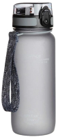 Бутылка для воды UZSpace Colorful Frosted / 3037 (650мл, серый) -