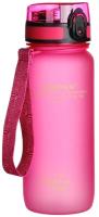 Бутылка для воды UZSpace Colorful Frosted / 3037 (650мл, розовый) -
