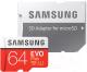 Карта памяти Samsung EVO Plus microSDXC UHS-I 64GB + адаптер (MB-MC64HA) -