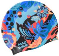 Шапочка для плавания Mad Wave Lory (синий) -