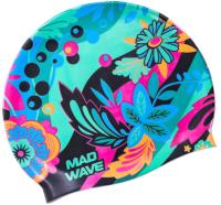 Шапочка для плавания Mad Wave Lory (зеленый) -