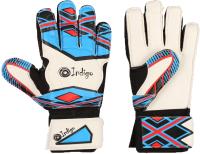 Перчатки вратарские Indigo 2023-D (размер 5, белый/голубой) -