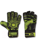 Перчатки вратарские Indigo 1218-A (размер 8, черный/зеленый) -