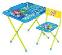 Комплект мебели с детским столом Ника Ф2А Фиксики азбука -