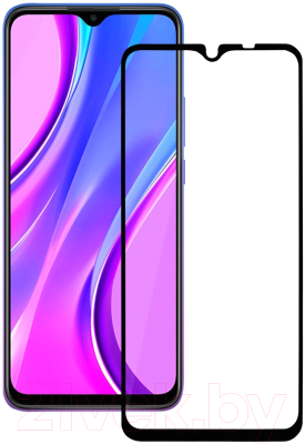 Защитное стекло для телефона Volare Rosso Fullscreen Full Glue для Redmi 9 (черный)